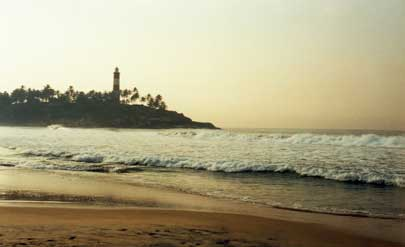 Geographical location of Kovalam