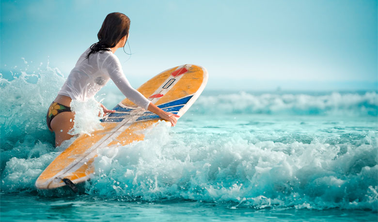 Living from Surfboards at Kovalam